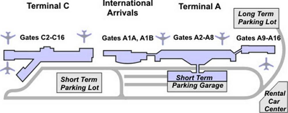 Airport Terminal Map sanjoseairportterminalmapjpg