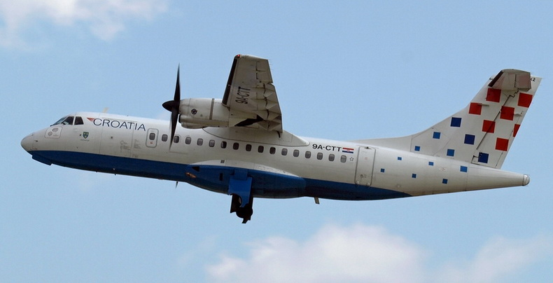 ATR 42 Airplane Of Croatia Airlines