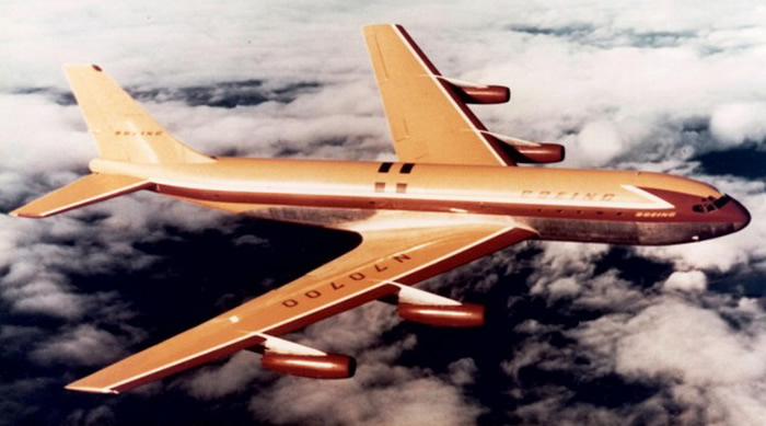 boeing 707 -80 barrel roll jet