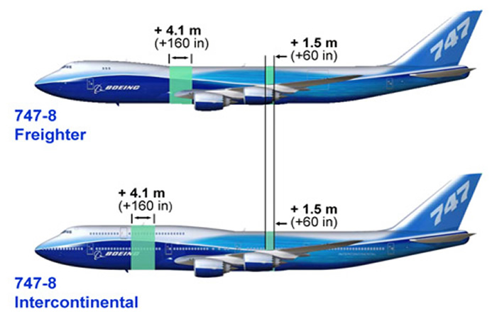 boeing 747-8 freighter vs boeing 747-8 intercontinental
