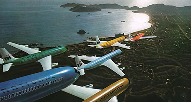 braniff colorful airliners