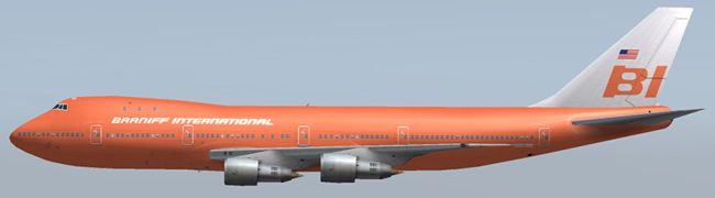 braniff international airlines 747