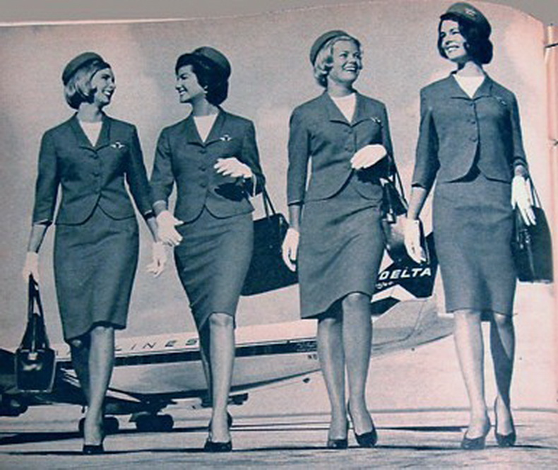flight attendants from delta airlines