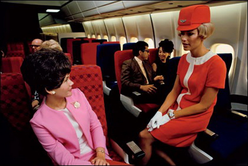 flight attendants 1960 interior photo