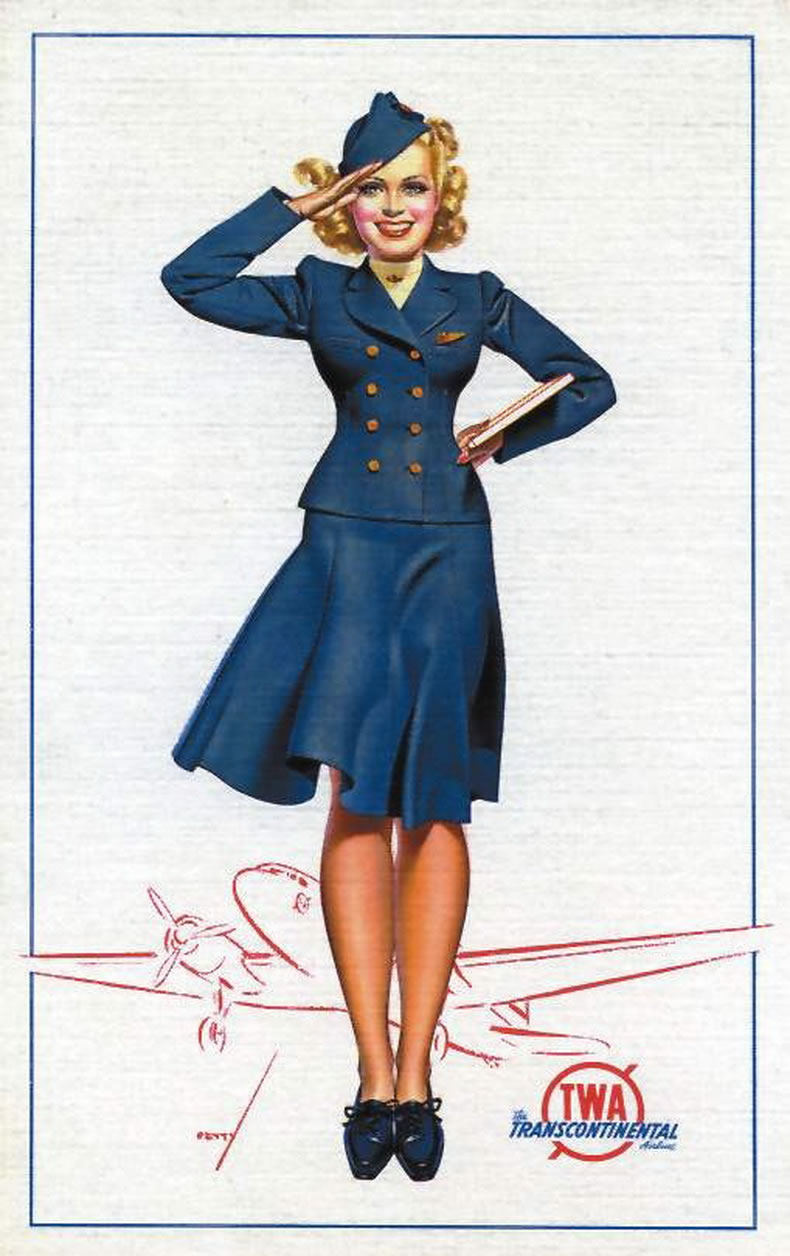 Vintage Stewardess Uniforms 111