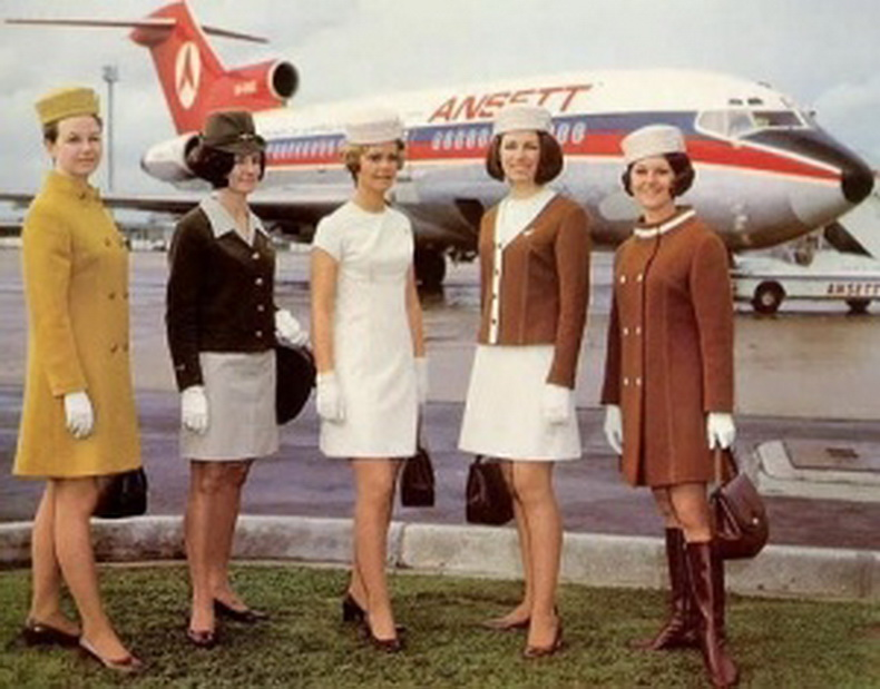 flight attendants from ansett airlines