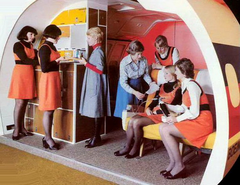 flight attendants training in 1960