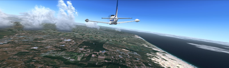 kit aircraft flying over florida fsx screenshot