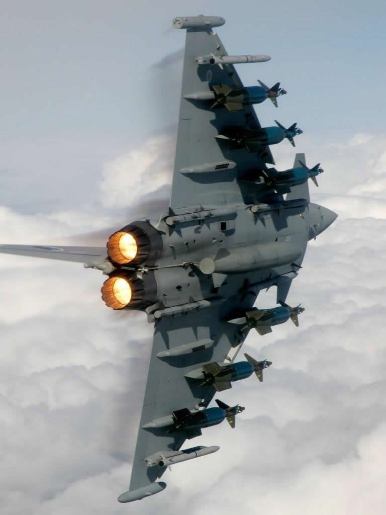 figther jet turn afterburner