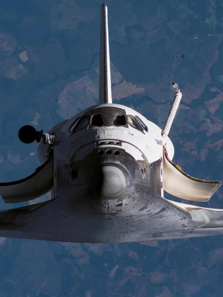 high res nasa space shuttle in orbit-#15