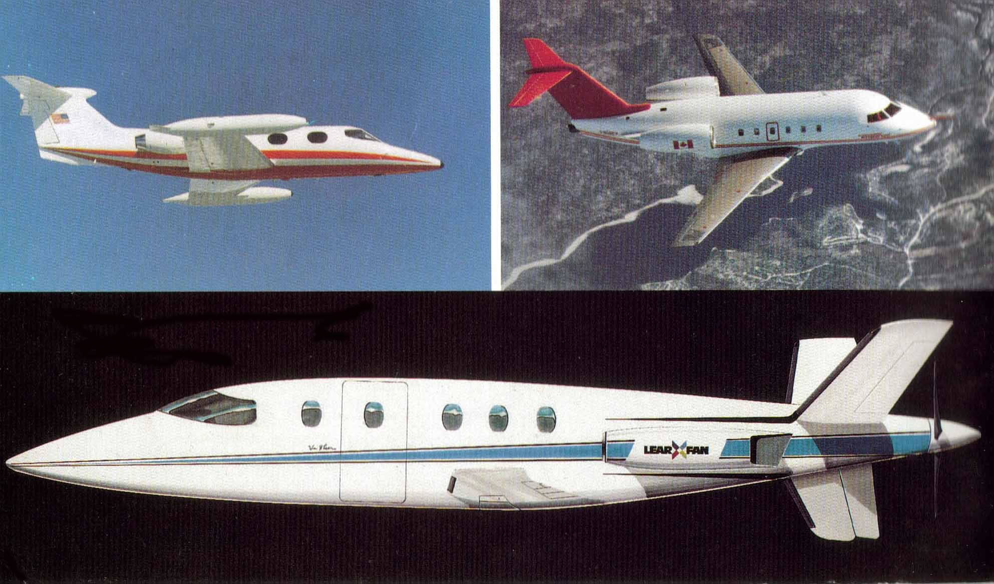 Learfan Aircraft Brochure And Lear Fan Pictures Photos