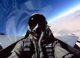 military fighter pilot in f15