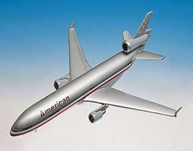 american md11 scale aircraft replica display model
