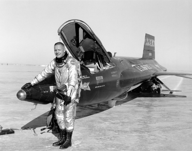 NASA Air Force Aircraft Flight Altitude Record in X-15 experimental airplane