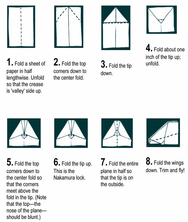 how to make a paper airplane jet