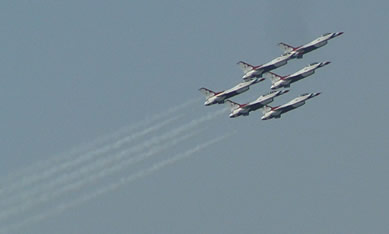 Air Force Thunderbirds in Formation