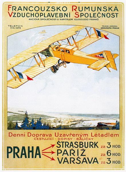 Vintage Airplane Poster 108
