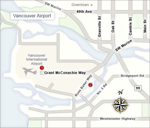 vancouver canada international airport map