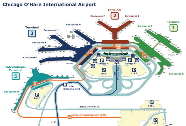 Chicago International Airport Map Chicago Map
